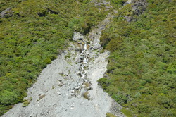 Hooker Valley Waterfall